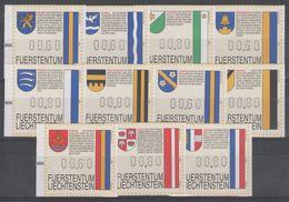 LIECHTENSTEIN:  Distributeurs N°1/11 ** - Liechtenstein