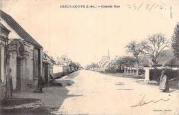 C P A 28 Crécy-Couvé Grande Rue   1904 Eure Et Loir - Autres Communes