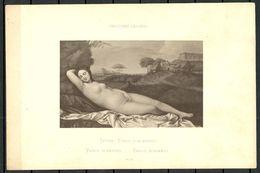 Kunst Art Tizian Venus Schlafend Dresdner Galerie Zeichnung Nach Original No 12 - Non Classés
