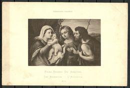 Kunst Art Palma Vecchio  Die Anbetung Dresdner Galerie Zeichnung Nach Original No 10 - Non Classés