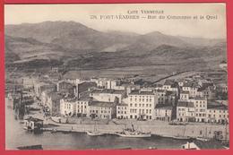 CPA*66* PORT-VENDRES - Rue Du Commerce - Le Quai - Bateaux - SUP - 2 SCANS - Port Vendres