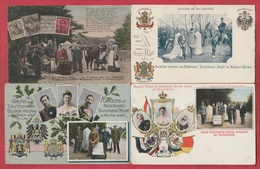 Kelmis / La Calamine - Les 3 Frontières - Gruss Aus Deutschland , Holland, Belgien U. Neutral-Gebiet - 4 Cartes Postales - La Calamine - Kelmis