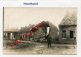 HOUTHULST-CARTE PHOTO Allemande-Guerre 14-18-1 WK-BELGIEN-Flandern - Houthulst