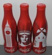 COCA-COLA SERIE  COMPLETE DE 3 BOUTEILLES DE SPAIN - Soda