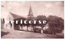 78  Crespieres  L'église Un Jour De Marché - Altri Comuni