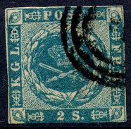 Stamp  Denmark 1854 2s Used - Oblitérés