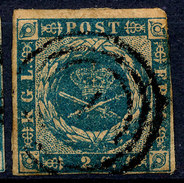 Stamp  Denmark 1854 2s Used - 1851-63 (Frederik VII)