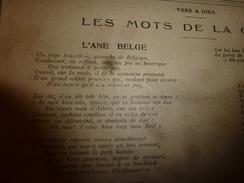 1918 L'ÂNE BELGE Un Ketje Bruxellois,Gavroche De Belgique, Conduisait En Sifflant Vers Un Pré Sa Bourrique Etc LSDS - La Semaine De Suzette
