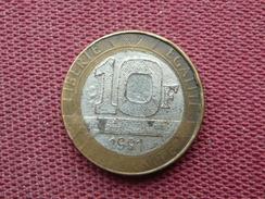 FRANCE Fausse Monnaie De 10 Francs 1991 - Variétés Et Curiosités