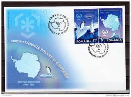 Romania / Preserve The Polar Region And Glaciers / FDC - Preservare Le Regioni Polari E Ghiacciai