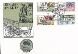 500 Jahre Postwesen: Numisbrief Mit DDR 5 Mark, 1990. Jaeger Nr. 1635 - [ 6] 1949-1990: DDR