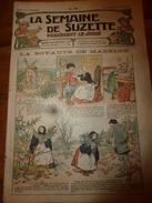 1918 La Royauté De MADELON;   Prière à NOËL; Etc    LSDS (La Semaine De Suzette) - La Semaine De Suzette