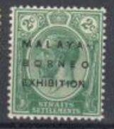 Straits Settlement Mint No Hinge 90 Euros  1922 - Straits Settlements