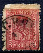 Stamp  Norwey 1863-67 8s Used - Noorwegen