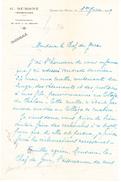 Lettre D'Epinac-les-Mines (1929) - Old Paper
