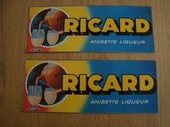 LOT DE 2 AUTOCOLLANTS RICARD - Stickers