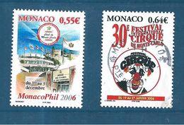 Monaco Timbres  De 2005  N°2521 Et 2522  Neufs ** Et Oblitéré - Nuovi