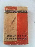 1939 English - Norwegian  Norwegian - English Pocket Dictionary Book - Scandinavian Languages