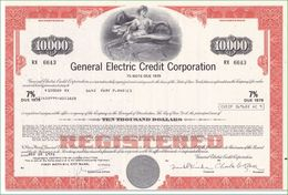 Aktie. General Electric Credit Corporation. 10 000 Dollars - Non Classés