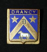 """WW2 Belle Broche Ancienne Années 40/50 """"Armoiries Ville De Drancy"""" (Insigne Des Anciens Du Camp De Drancy ?) WWII - 1939-45"""