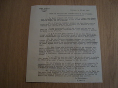 LETTRE D'INFORMATION AUX FAMILLES EN CAS D'ALERTE LYCEE POTHIER ORLEANS 45 16 MAI 1940 - Historical Documents