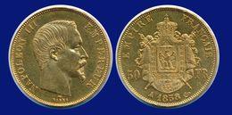 50 FRANCS OR NAPOLÉON III 1858 A PARIS - EMPIRE FRANÇAIS - - France