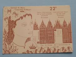 22e Int. Salon Van De Oude Postkaart Brussel ( Ed. G. PHILIPS - N° 00139 ) Anno 1986 ( Zie Foto's ) ! - Bourses & Salons De Collections