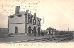 ¤¤  -  BEYNES    -   La Gare (Ligne De Mantes à Paris, Aux Invalides Et à Montparnasse) - Chemin De Fer     -  ¤¤ - Beynes