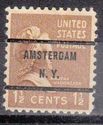 USA Precancel Vorausentwertungen Preo, Bureau New York, Amsterdam 805-71 - Precancels