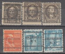 USA Precancel Vorausentwertungen Preo, Locals New York, Amsterdam 243, 6 Diff. - Vereinigte Staaten