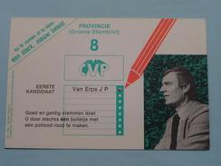 CVP Van Erps J P Eerste Kandidaat (8) Anno 19?? ( Zie Foto's ) Copie PK Wezembeek De Pastorij ! - Partis Politiques & élections