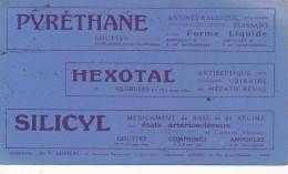 AC - B2875-  Buvard  Produits Pharmaceutiques ( Utilisé) - Blotters