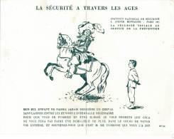 AC - B2876-  Buvard  La Sécurité à Travers Les Ages  (  Non Utilisé) - Buvards, Protège-cahiers Illustrés