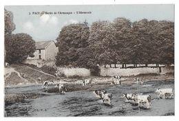 Cpa: 89 PACY (ar. Avallon) Bords De L'Armançon - L'Abreuvoir (Vaches) 1949 N° 7 (rare) - Autres Communes
