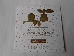 (E69)  Nina RICCI  Les Gourmandises De Nina & Luna -  Carte Parfumée - Modern (from 1961)