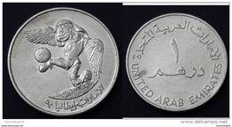 UAE - 1 Dirham -(SOCCER) 1990 / RARE / UNC - Emirats Arabes Unis