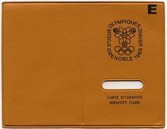 Etui Plastique Pour Carte D'identité E Xèmes Jeux Olympiques D'Hiver De GRENOBLE 1968  Olympic Games 68 - Other