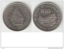 Indonesia 100 Rupiah 1978  Km 42    Unc !!! - Indonesia