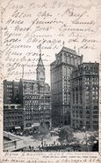 NEW-YORK ( Etats - Unis )  Junction Park Row . Nassau/Spruce N.Y - NY - New York