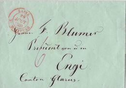 1850 BASEL → Vorphilatelie Brief Nach ENGI Kanton Glarus - ...-1845 Prefilatelia