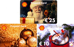 3 Gift Cards - - - Shell  - - -  Christmas - - - Germany - Gift Cards