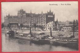 CPA* 67 * STRASBOURG - 1920 - PORT Du RHIN - BATEAUX à VAPEUR - ROUES à AUBE   - 2 SCANS - Strasbourg
