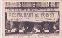 CPA -  BORDEAUX - Restaurant De POISSY - Hôtel De POISSY - Garage.................chambres, Repas Prix Fixes Et Cartes - Bordeaux
