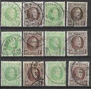 _6R-443:  Restje Van 12 Zegels .. 6x: N°209/10 : De Topwaarden. ..om Verder Uit Te Zoeken.. - 1922-1927 Houyoux