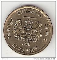 *singapore 5 Cents 1988 Km 50    Unc - Singapour