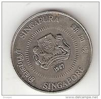 Singapore 10 Cents 1987 Km 51    Unc - Singapour