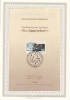 "Germania 1986 Sc. 1468 Ersttagsblatt N. 17  ""Denkmalschutz""  FDC Sheet  Cattedrale Di Augusta : VETRATE - Vetri & Vetrate"