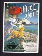 CPM Publicité - Hiver à Nice - Reproduction Affiche Ancienne Hugo D' Alesi 1895 - Werbepostkarten