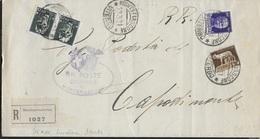 STORIA POSTALE REGNO - PIEGO RACCOMANDATA APERTA DA MONTEFIASCONE (VT) 13.03.1931 PER CAPODIMONTE(VT) - 1900-44 Victor Emmanuel III