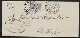 STORIA POSTALE REGNO - ANNULLO FRAZIONARIO GIRIFALCO (CZ) 18-73 SU PIEGO 16.06.1924 - 1900-44 Victor Emmanuel III